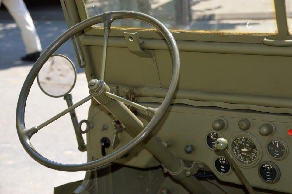 רכב צבאי לאחר תאונת דרכים בצבא